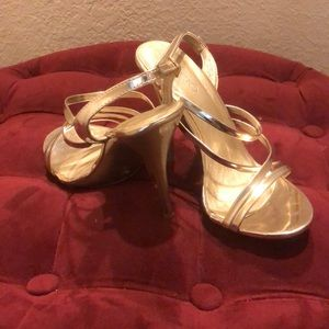 Aldo Shoes - Gold Strappy Heels